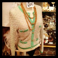 Paris flea markets... vintage Chanel jacket