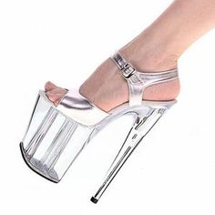 high-heeled shoes transparent crystal sandals 8 inch wedding dress shoes  back strap party Exotic Dancer performance shoes a8e795a1a304