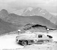 Mercedes 300 SL, Liege-Rome-Liege Rally, 1955