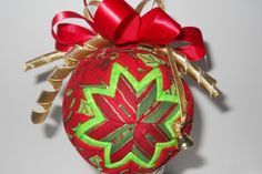 Quilted Christmas ornament quilted ornament by TuTuSweetDiva, $12.00