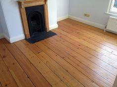 Pine wood floor  - Picture before sanding and oiling /Hard wood floor restoration, art of clean Essex
