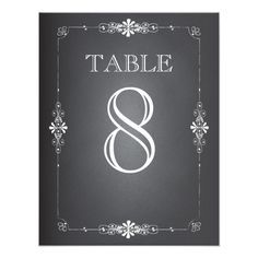 Chalkboard Wedding Reception Table Number Card Wedding table cards you can personalize to add finishing details to your wedding reception or rehearsal dinner. Wedding Reception Cards, Card Table Wedding, Wedding Table Numbers, Wedding Cards, Wedding Ideas, Wedding Stuff, Wedding Decorations, Chalkboard Wedding Invitations, Black And White Wedding Invitations