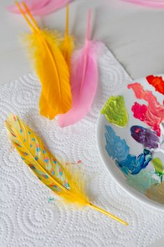 DIY-painted-feathers