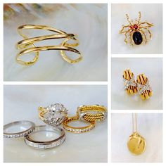 Tiffany Tuesday-always in style! We love these #vintage #gold and #platinum #TiffanyandCo jewelry pieces now at #CraigEvanSmall! #diamonds #spider #lovegold