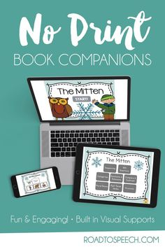 Check out this NO PRINT book companion for The Mitten. Target Common Core aligned language, vocabulary, and grammar goals! Great for intervention or speech therapy!