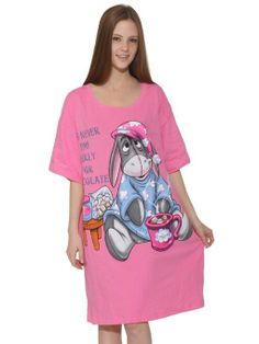 Amazon.com: Eeyore Pink Scratch and Sniff Oversize Night Shirt: Clothing