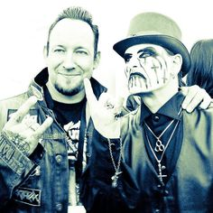 Michael Poulsen from Volbeat with THE KING!