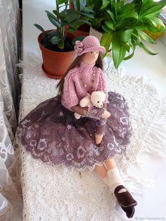 Купить Кукла тильда Верочка (по мотивам куклы Аллочка) в интернет магазине на Ярмарке Мастеров