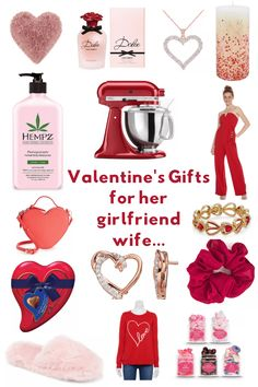 Valentine's Gifts for girlfriend, wife, her...Use these as Valentine's or for Galentine's Day... A variety of gifts she will love receiving. Pretty, useful, unexpected...DearCreatives.com #ValentinesDayGifts #ValentinesDaygiftswife #ValentinesDayGiftsher #giftideas #dearcreatives Valentine Gifts For Girlfriend, Valentines Day Gifts For Her, Gifts For Wife, Mom And Grandma, Gal Pal, Diy, Creative, Pretty, Bricolage