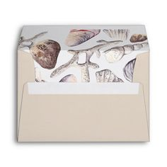 Shop Watercolor Sea Shell and Coral for card Envelope created by OwlsomePaperie. Summer Wedding Invitations, Wedding Invitation Design, Wedding Envelopes, Card Envelopes, Watercolor Sea, Custom Printed Envelopes, Event Themes, Invitation Cards, Invites