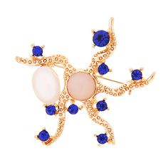 Hot Sale Factory Price Newly Fashion Unqiue Design Shape Alloy Rhinestones Resin Brooch[US$1.22]