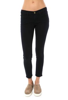 FRAME DENIM Le Color Crop Skinny De Jeanne Slim Sexy Jeans Pants Dark Blue $230 #FrameDenim #SlimSkinny