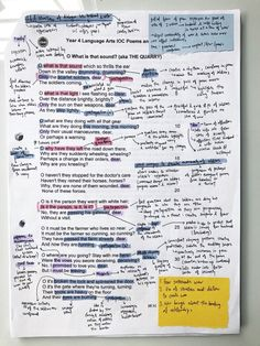poetry annotation? never heard of her …….. and yes there's a method to the madness! drop me a message if you want to know how