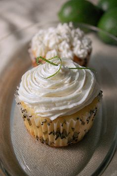 Vanilla Cupcakes with Mango-Lime curd filling and Vanilla-lime icing, made by my friend and aspiring pastry chef Dawn.