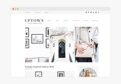 WordPress Themes, Feminine WordPress thees for your Blog, Uptown - Wordpress Theme by 17th Avenue on @creativemarket