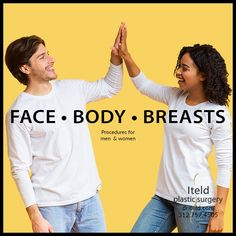 Plastic surgery procedures for men and women! Call now to schedule your consult and discover the facial, body contouring, and breast procedures customized to your needs — 312.757.4505. #plasticsurgery #chicagoplasticsurgeon #boardcertified Plastic Surgery Procedures, Body Contouring, Men And Women, Face And Body, Facial, Breast, Facial Treatment, Facial Care, Face Care