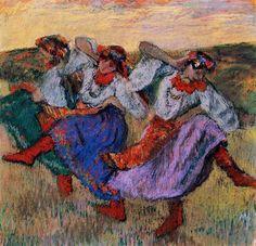 Russian Dancers, 1899 by Edgar Degas. Impressionism. genre painting