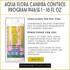 ndications For Use: Uses: temporarily relieves symptoms due to moderate overgrowth of Candida albicans.