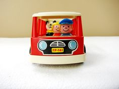 *SOLD*  Vintage Fisher Price Bus Fisher Price Red by HipCatRetroVintage, https://www.etsy.com/listing/179789394/vintage-fisher-price-bus-fisher-price?ref=shop_home_active_14