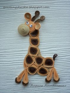 Fairy tale about quilling: magnet giraffe)))