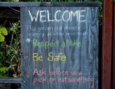 School garden rules | Flickr - Photo Sharing! Some inspiration for our Garden Promise