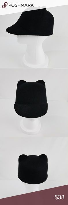NWOT Black Wool Cat Ear Hat Cap ✴20% OFF BUNDLES OF 3 OR MORE✴ New Without Tags 100% wool One size fits all  PLEASE READ CLOSET INFO AND POLICIES POST Accessories Hats