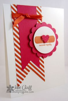 patterned occasions bandaid stamp card
