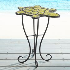 Turtle Mosaic Accent Table