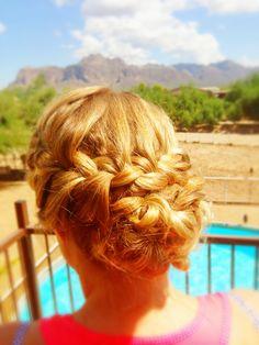 Bridal up-do/braid Hair by Deana Phelps Instagram: hair_dp http://m.yelp.com/biz/deana-phelps-scottsdale