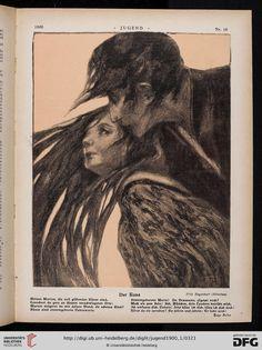 The Kiss. Fritz Hegenbart, Jugend magazine, 1900.