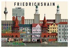 Berlin Illustrations Martin Schwartz Friedrichshain