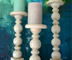 Diy Candle Holders from Banisters