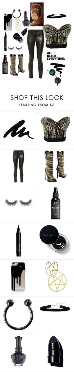 """""""Untitled #597"""" by diamondinthesky13 ❤ liked on Polyvore featuring Alivila.Y Fashion, J Brand, Philipp Plein, NYX, Hot Topic, Anna Sui, Anastasia Beverly Hills and allblackoutfit"""