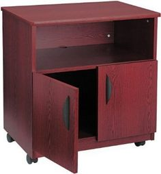 Safco 1850-MH Mobile Stand - Mahogany  Sale Price : $428.00   ☛ http://www.shopofficemachines.com/Safco-1850-MH-Mobile-Stand-Mahogany/dp/B001MS6VGG