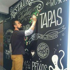 #pizarra #tiza#mural#vintage #chalkart #signpainter #jaspal#singh #diseño#gráfico#pizarrasatiza #Oscar#Perez de Tudela#hotel#cafeterîa#bar#restaurante#arte#artesano#art#tapas#menu#oscarperezdetudela