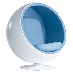 """This #stunning #ball #chair was created by #finnish #designer #Eeroaarnio in 1963. He has modified a #sphere to create a #room within a room. You can…"""