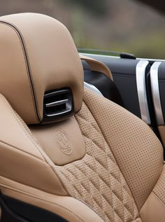 pleated leather in an AMG Mercedes convertible. Nice color for interior of 56 thunderbird