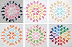 Diamond Blossom Quilt Blocks by theparfaitcafe on flickr.