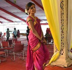 Kashta Saree, Sarees, Marathi Saree, Nauvari Saree, Indian Beauty, Desi, Traditional, Clothes For Women, Messages