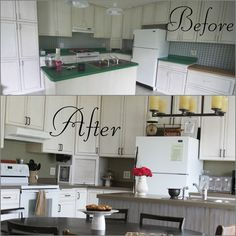 Kitchen Backsplash Using Beadboard Wallpaper. . Also Used The Spray Stuff  For Counter Tops Kitchenbeforeandafter