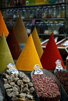 spices for sale, Mellah in Marrakesh, Morocco | Marc Piscoty Photography