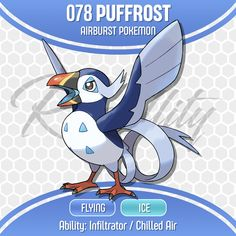 Puffrost is a wild pokémon I had commissioned by ! If you haven't already stumbled upon Nyjee before I highly suggest you check out the incre. 078 Puffrost - by Nyjee Pokemon Mix, Ice Pokemon, Pokemon Fake, Pokemon Comics, Pokemon Memes, Cool Pokemon, Pokemon Cards, Pokemon Fusion, Pokemon Breeds