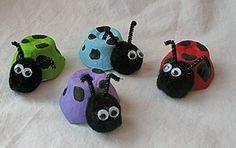 egg carton lady bugs