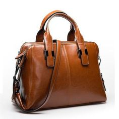 a329472f2f Designer Real Genuine Cow Leather Hand Bag Tote. 3 Colors. FREE SHIPPING  Leather Bags