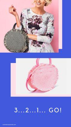This Gorgeous Basket Bag Has Turned my Head this Season! What About You? #basket bag #round braided bag #strawbag #fringed bag #bohemian #vintagebags