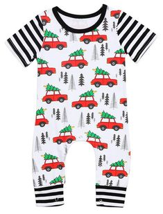 6518aee0286 SALE 55% OFF + FREE SHIPPING! SHOP Our Christmas Car Jumpsuit for Baby Girls