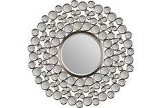 There's nothing spotty about the way the stylish and modern Ren-Wil Multi-Circle Wall Mirror - 42 diam. looks on your wall. The circular mirror. Small Round Mirrors, Unique Mirrors, Round Wall Mirror, Beveled Mirror, Mirror Mirror, Bathroom Mirrors, Copper Mirror, Beautiful Mirrors, Silver Wallpaper