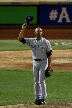 dc3b88c71e3 Mariano Rivera Tipping Hat 2013 All-Star Game Signed Photo w  MVP  InscMariano Rivera is arguably the greatest closing pitcher to ever play  the game of bas