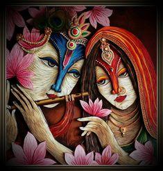 Quilled Radha Krishna