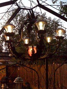 1000 images about solar lighting for outside on pinterest for Solar light chandelier diy
